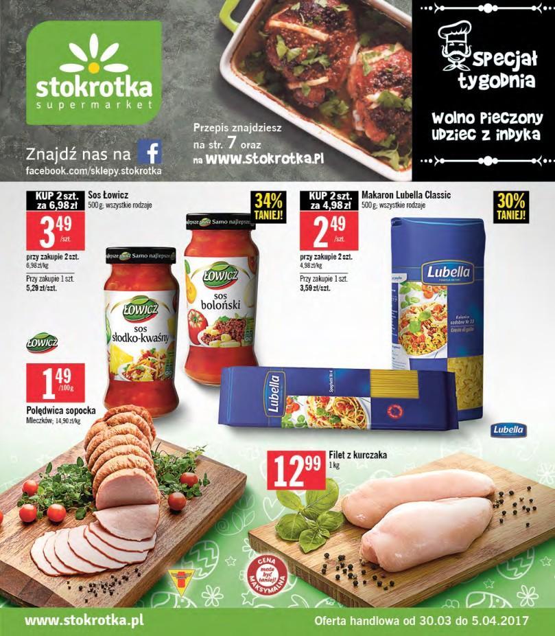 Gazetka promocyjna Stokrotka do 05/04/2017 str.0
