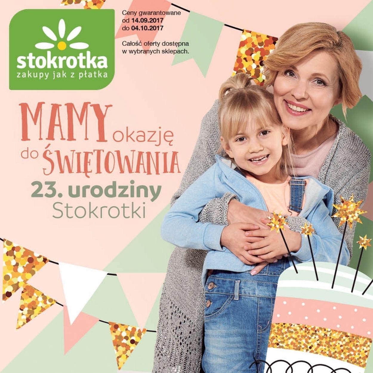 Gazetka promocyjna Stokrotka do 04/10/2017 str.0