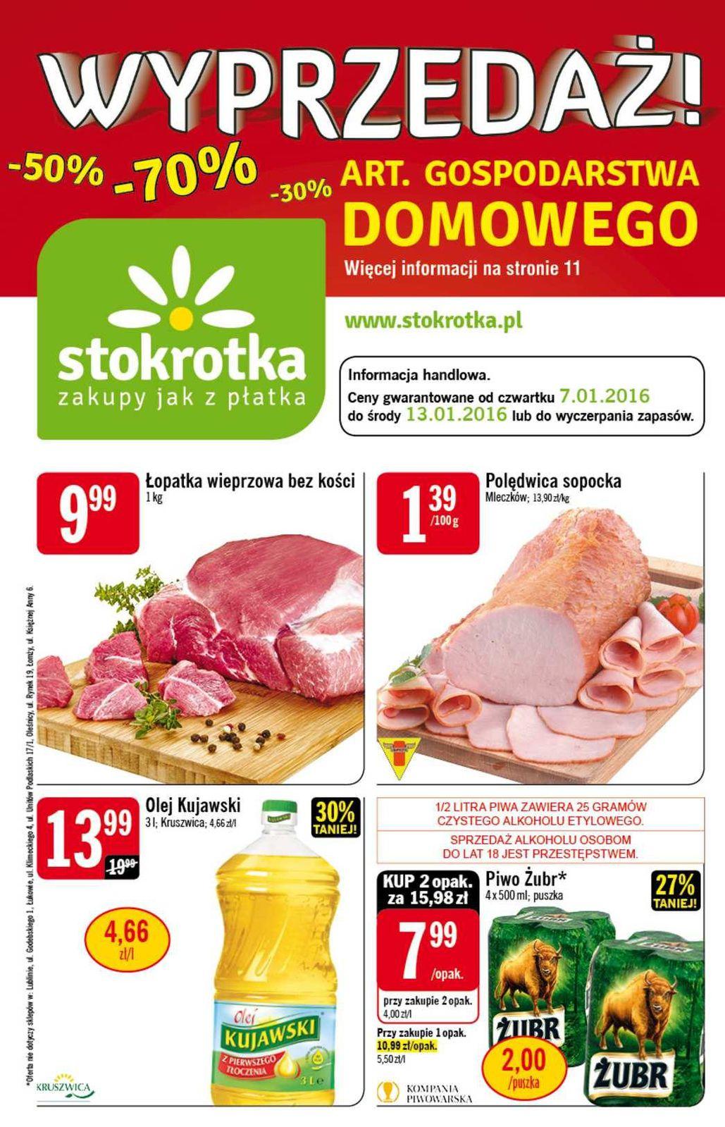Gazetka promocyjna Stokrotka do 13/01/2016 str.0