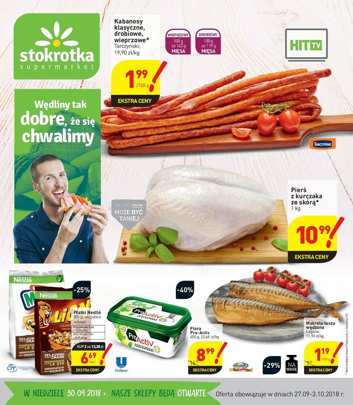 Gazetka promocyjna Stokrotka do 03/10/2018 str.0