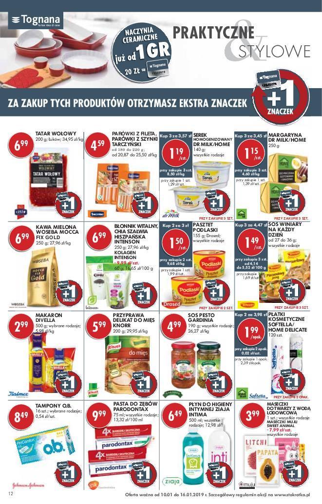 Gazetka promocyjna Stokrotka do 16/01/2019 str.12