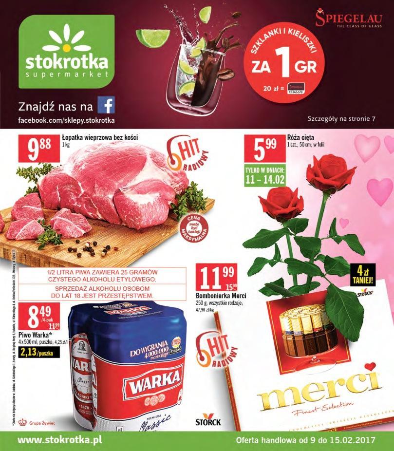 Gazetka promocyjna Stokrotka do 15/02/2017 str.0
