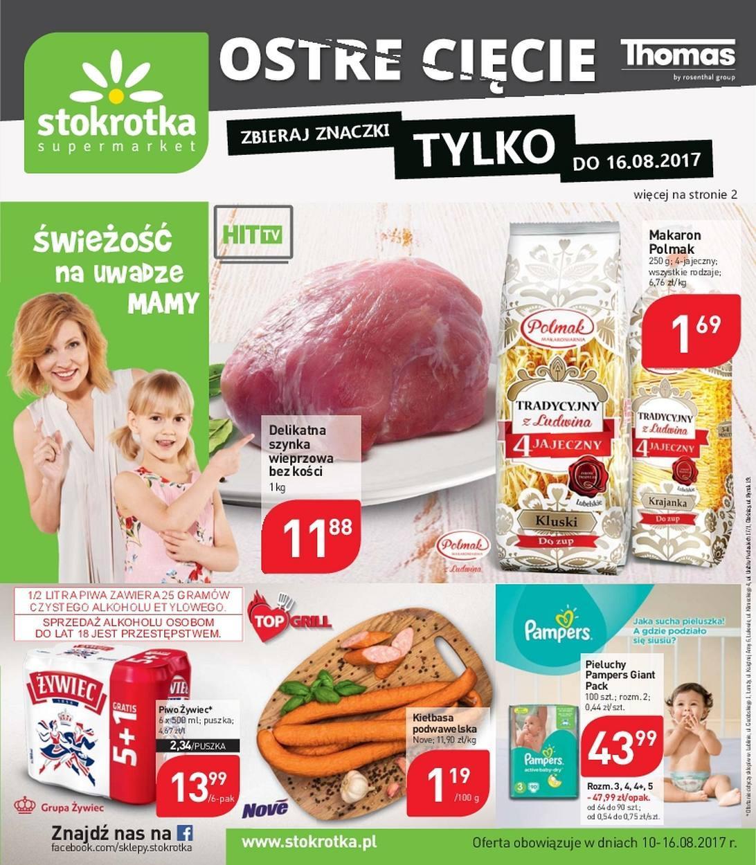 a75de992fb77f8 Gazetka promocyjna i reklamowa Stokrotka, od 10/08/2017 do 16/08 ...
