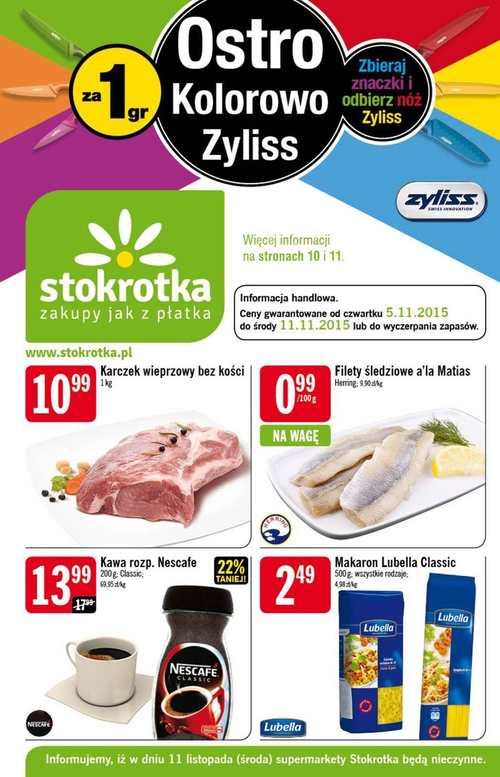 Gazetka promocyjna Stokrotka do 11/11/2015 str.0