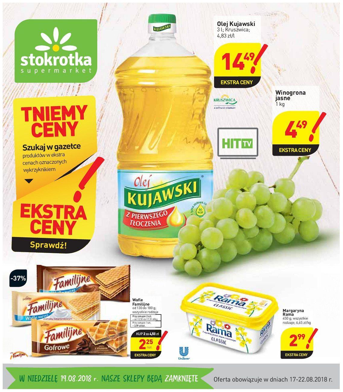Gazetka promocyjna Stokrotka do 22/08/2018 str.0