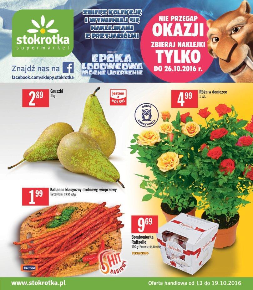 Gazetka promocyjna Stokrotka do 19/10/2016 str.0