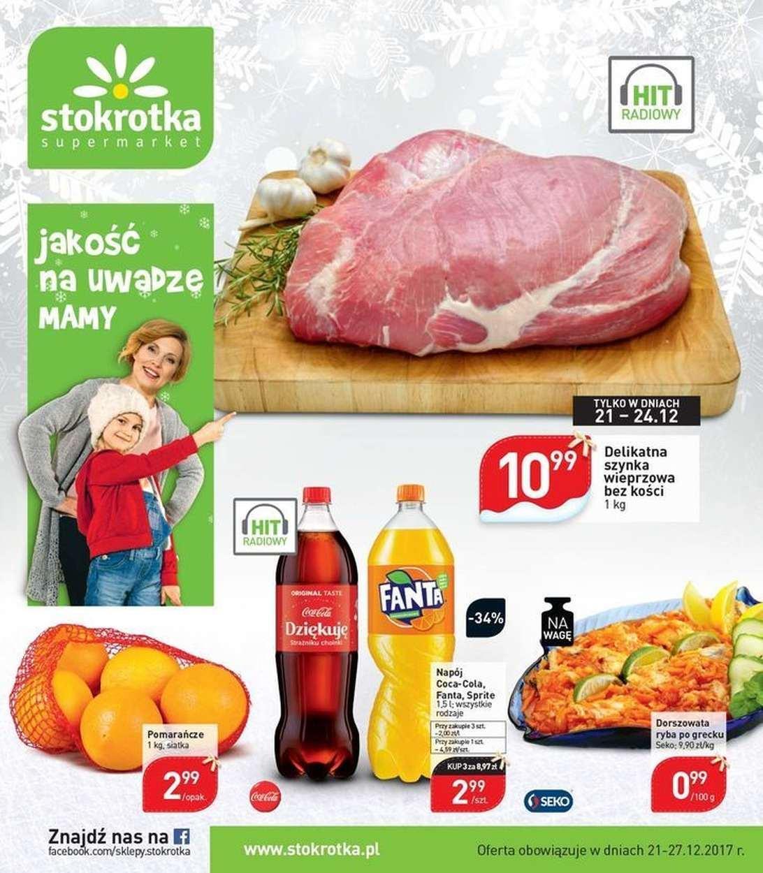 Gazetka promocyjna Stokrotka do 27/12/2017 str.0