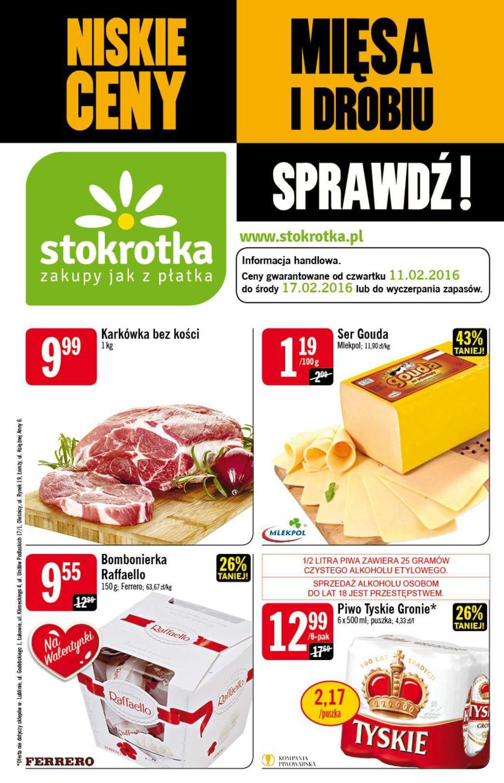 Gazetka promocyjna Stokrotka do 17/02/2016 str.0