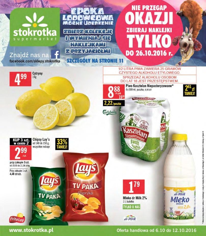 Gazetka promocyjna Stokrotka do 12/10/2016 str.0
