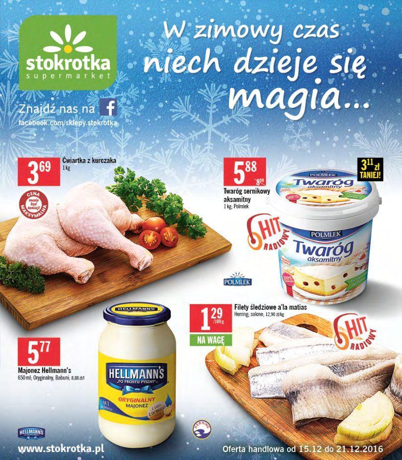 Gazetka promocyjna Stokrotka do 21/12/2016 str.0