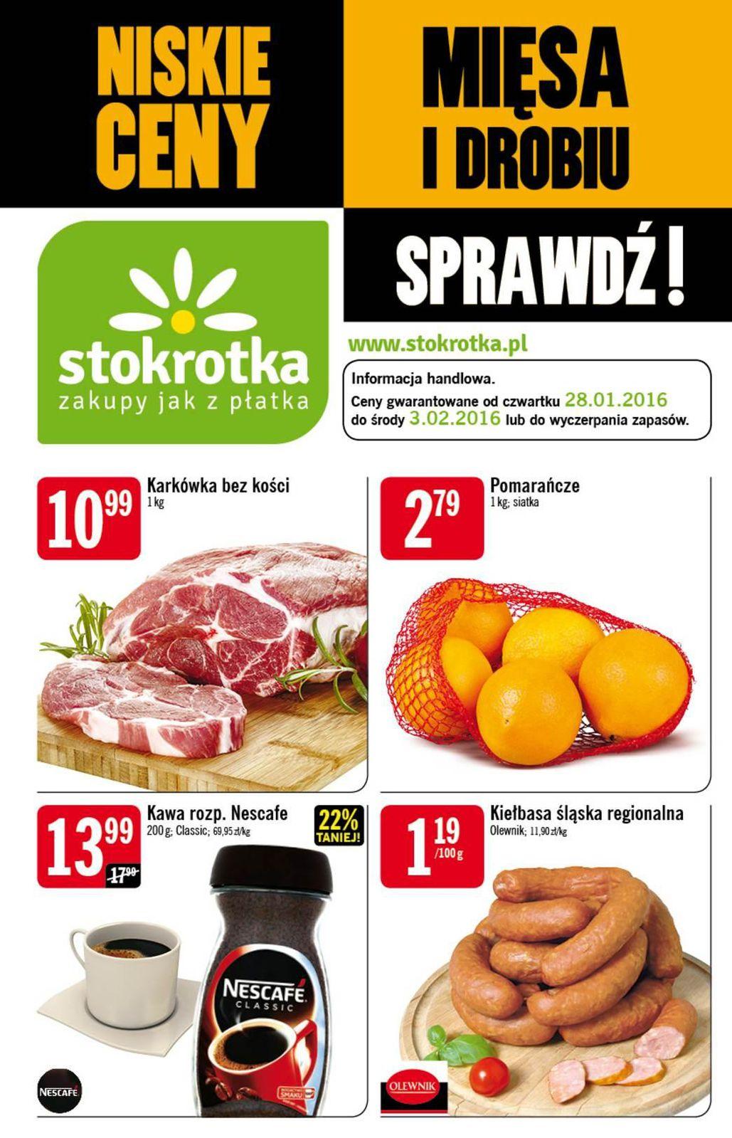 Gazetka promocyjna Stokrotka do 03/02/2016 str.0