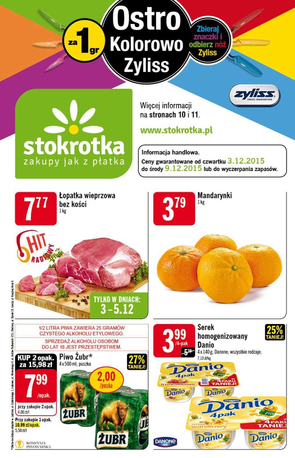 Gazetka promocyjna Stokrotka do 09/12/2015 str.0