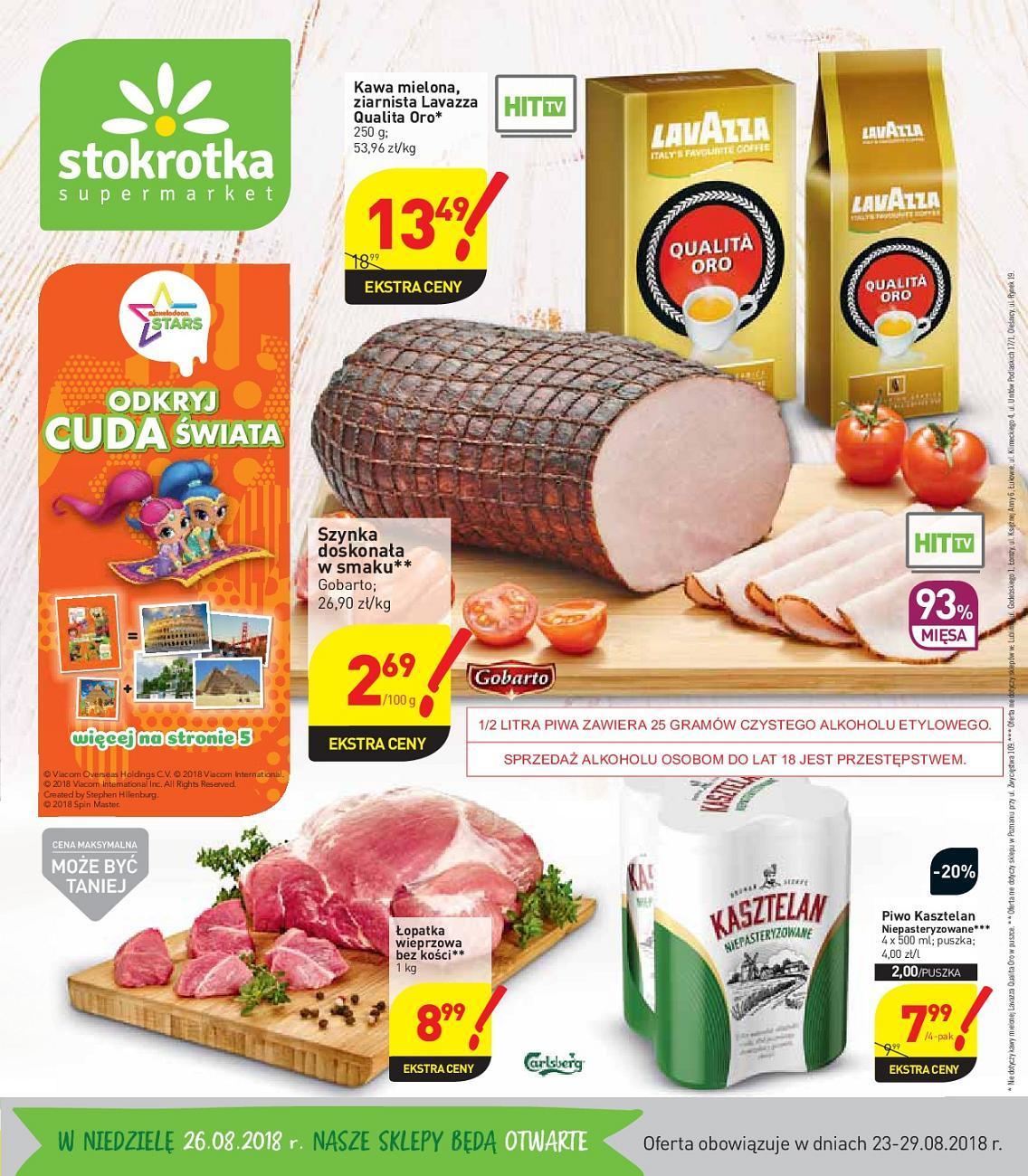 Gazetka promocyjna Stokrotka do 29/08/2018 str.0