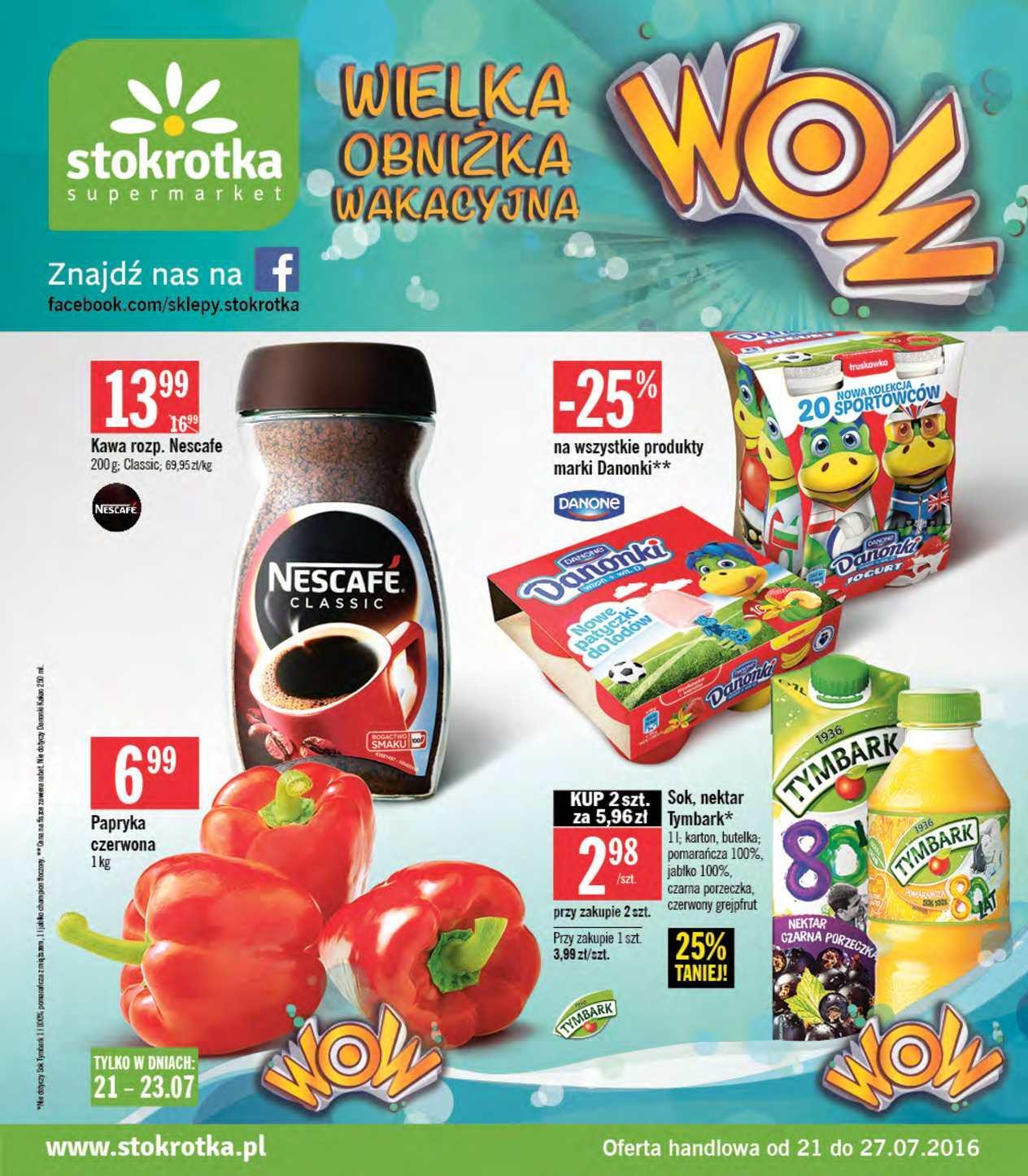 Gazetka promocyjna Stokrotka do 27/07/2016 str.0