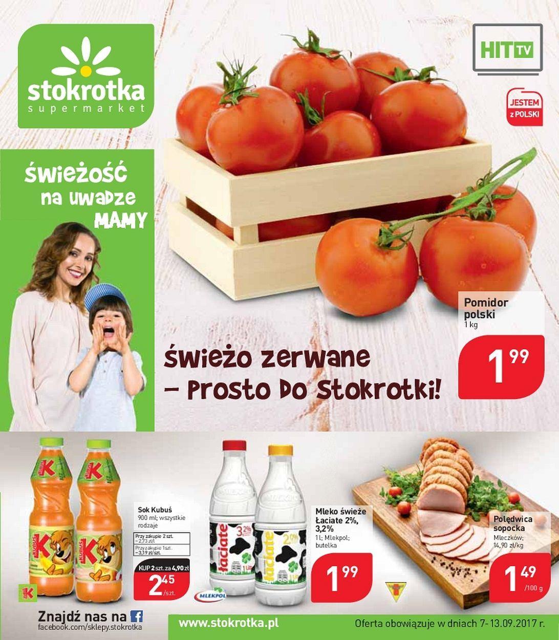 Gazetka promocyjna Stokrotka do 13/09/2017 str.0