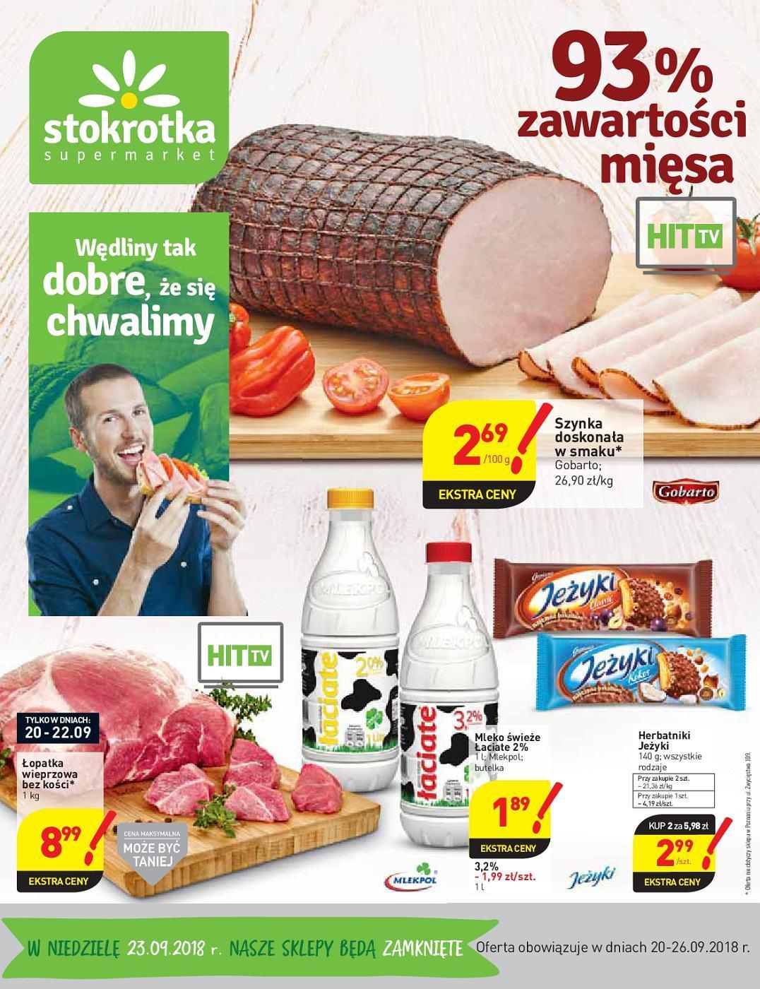 Gazetka promocyjna Stokrotka do 26/09/2018 str.1
