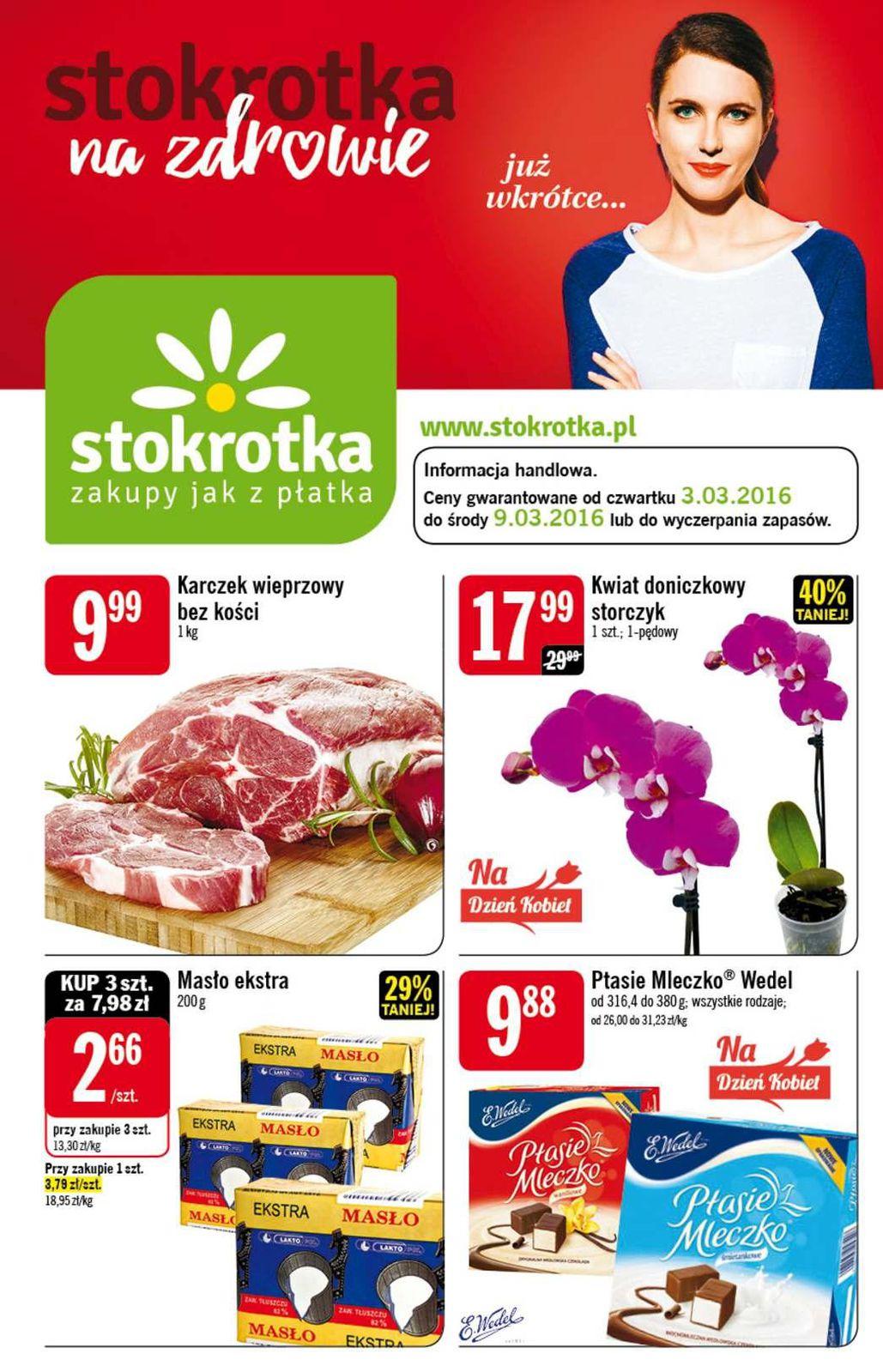 Gazetka promocyjna Stokrotka do 09/03/2016 str.0