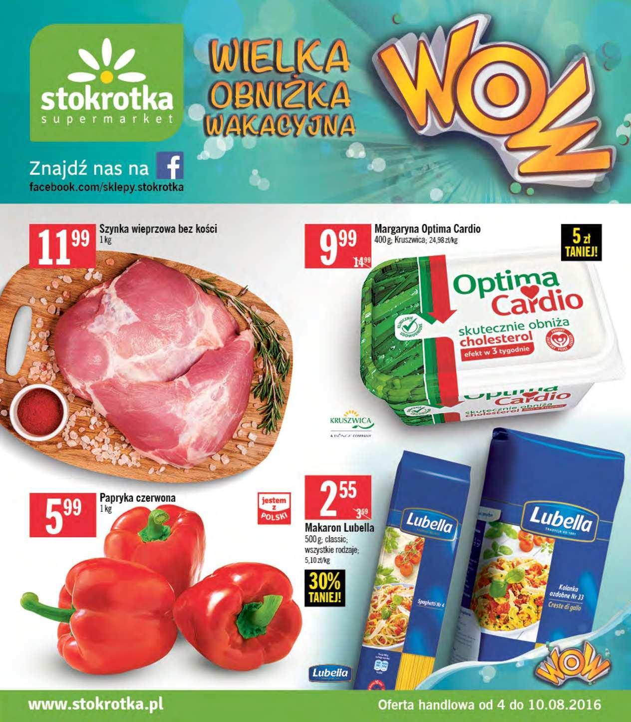 Gazetka promocyjna Stokrotka do 10/08/2016 str.0