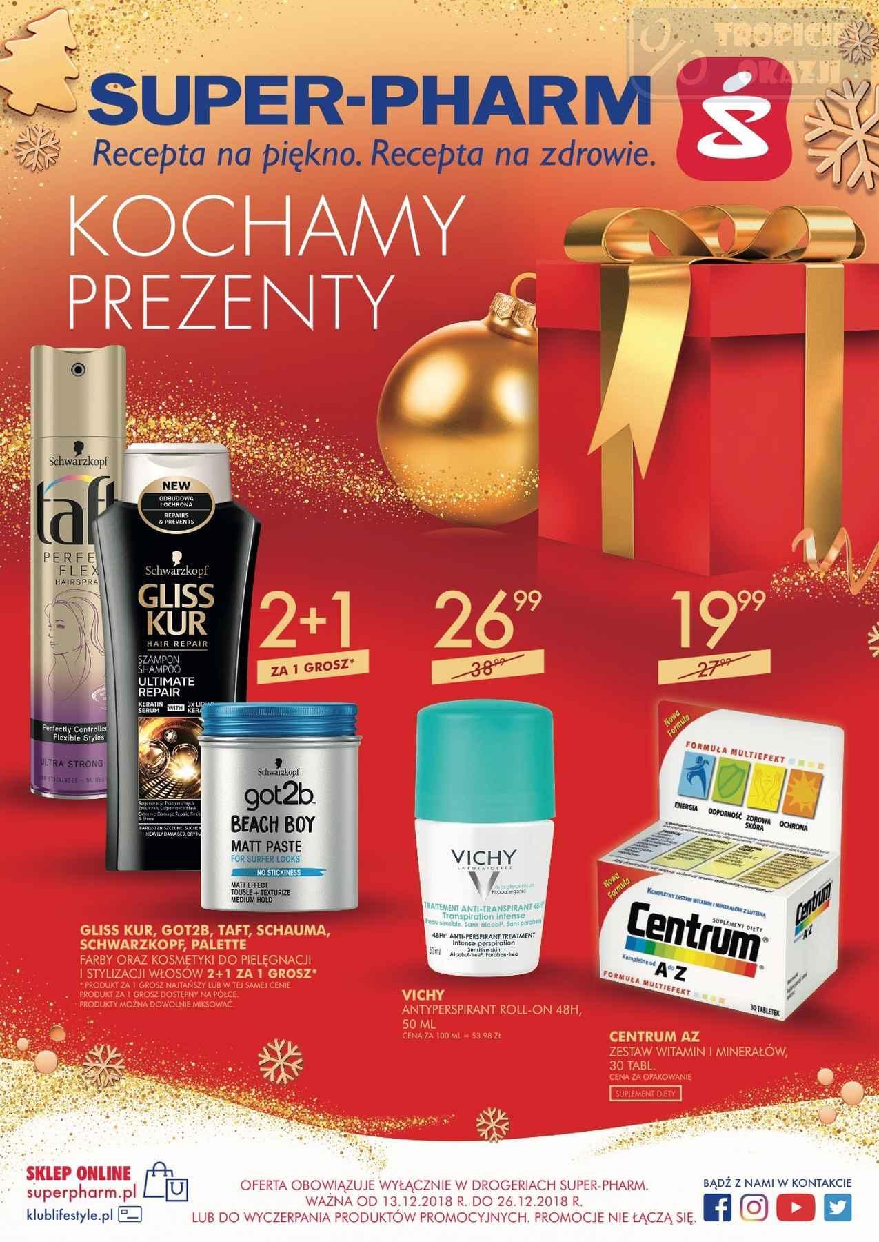 Gazetka promocyjna Superpharm do 26/12/2018 str.0