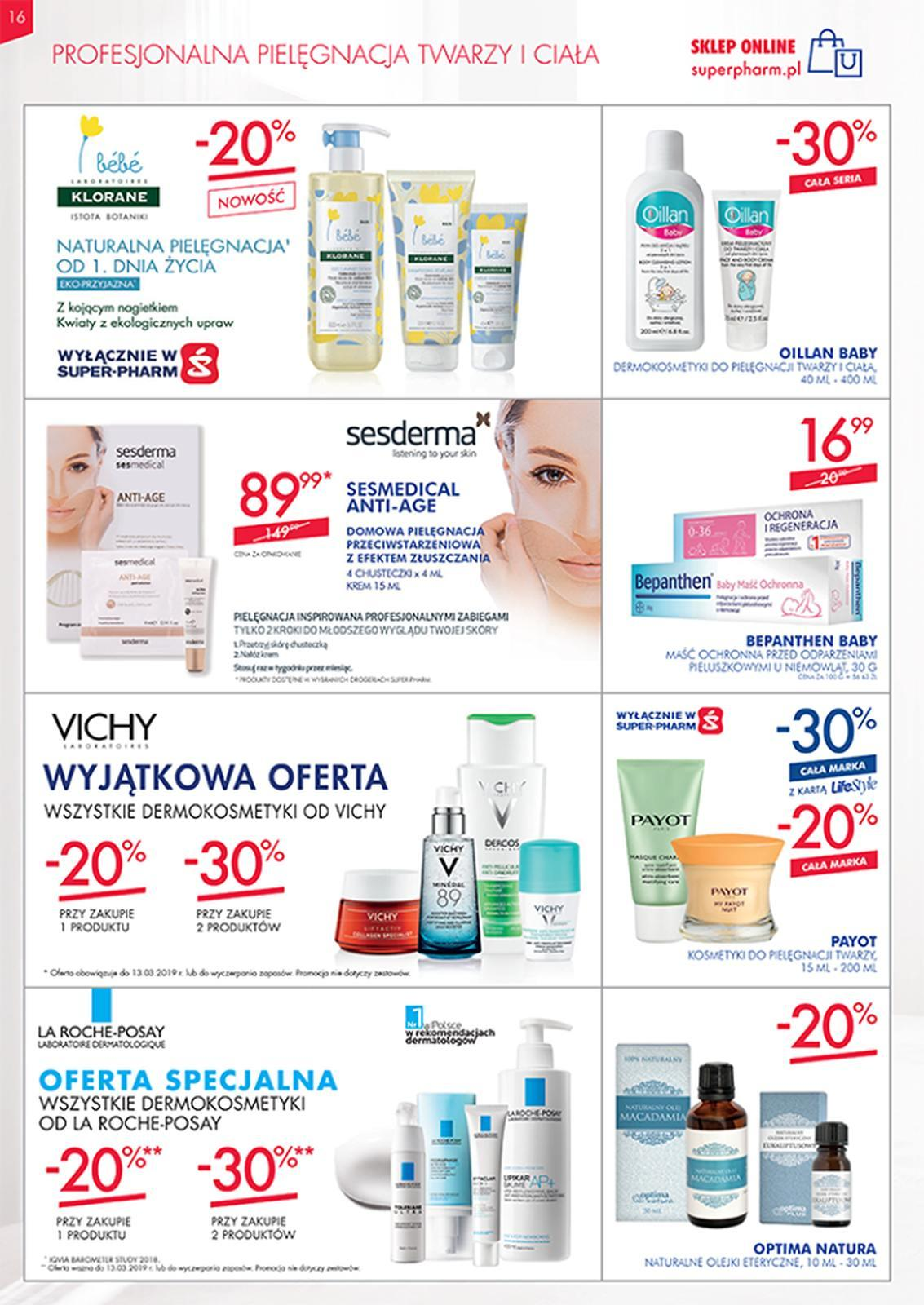 Gazetka promocyjna Superpharm do 13/03/2019 str.16