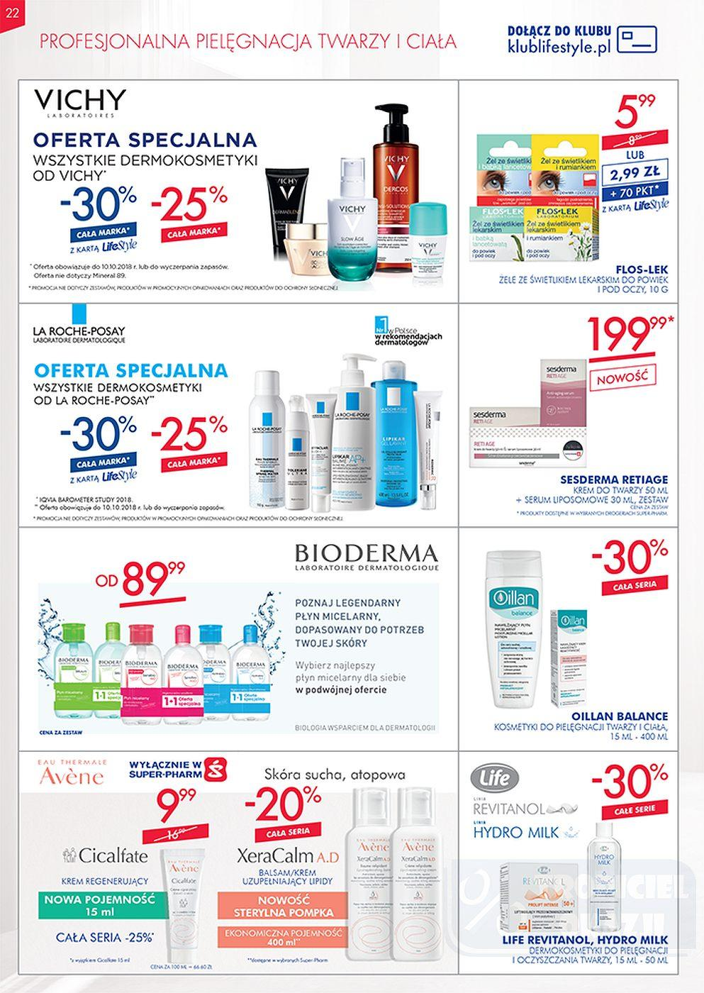 Gazetka promocyjna Superpharm do 10/10/2018 str.22
