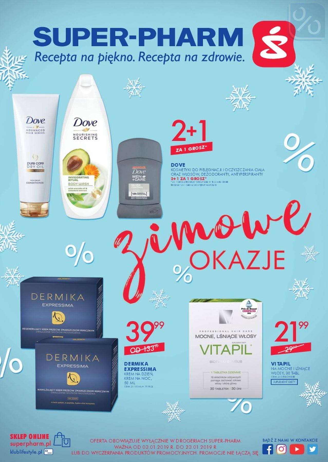 Gazetka promocyjna Superpharm do 23/01/2019 str.1