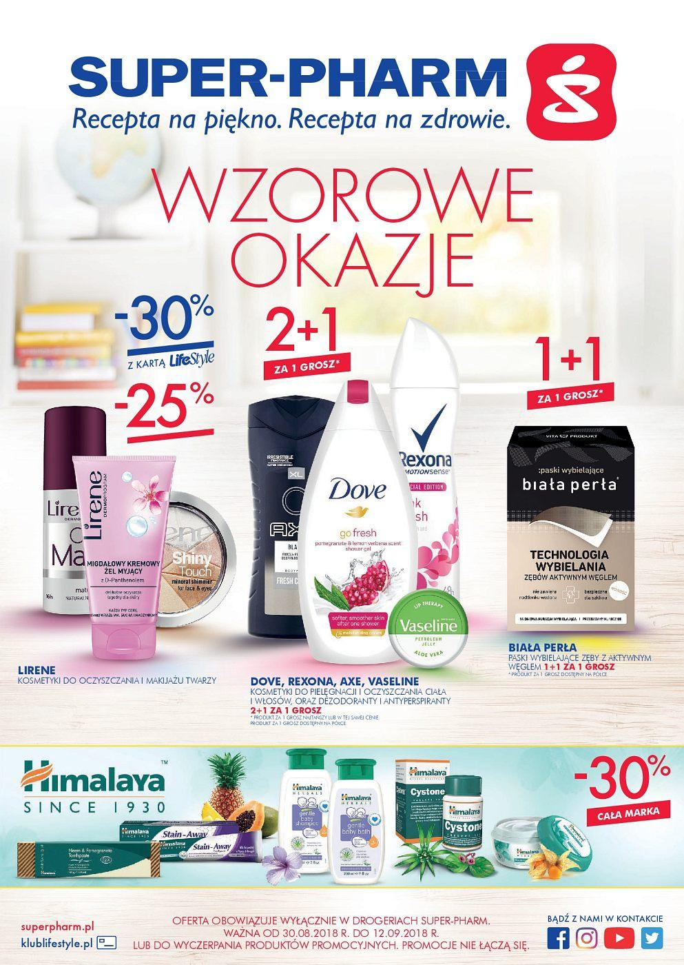 Gazetka promocyjna Superpharm do 12/09/2018 str.1