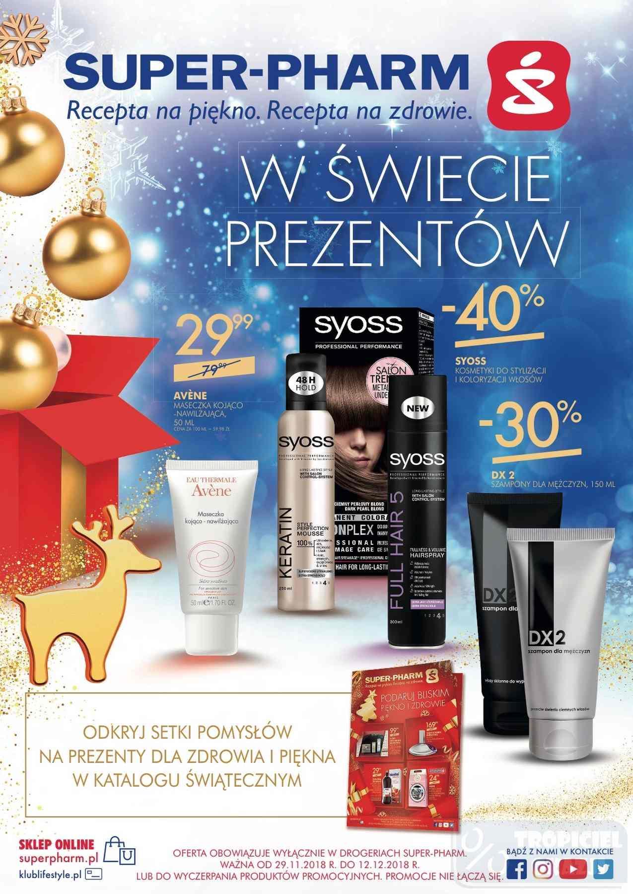 Gazetka promocyjna Superpharm do 12/12/2018 str.1
