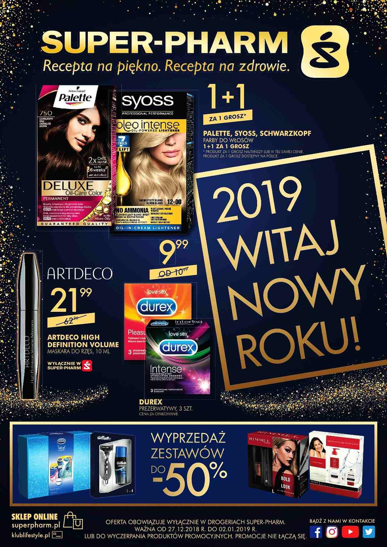 Gazetka promocyjna Superpharm do 02/01/2019 str.1