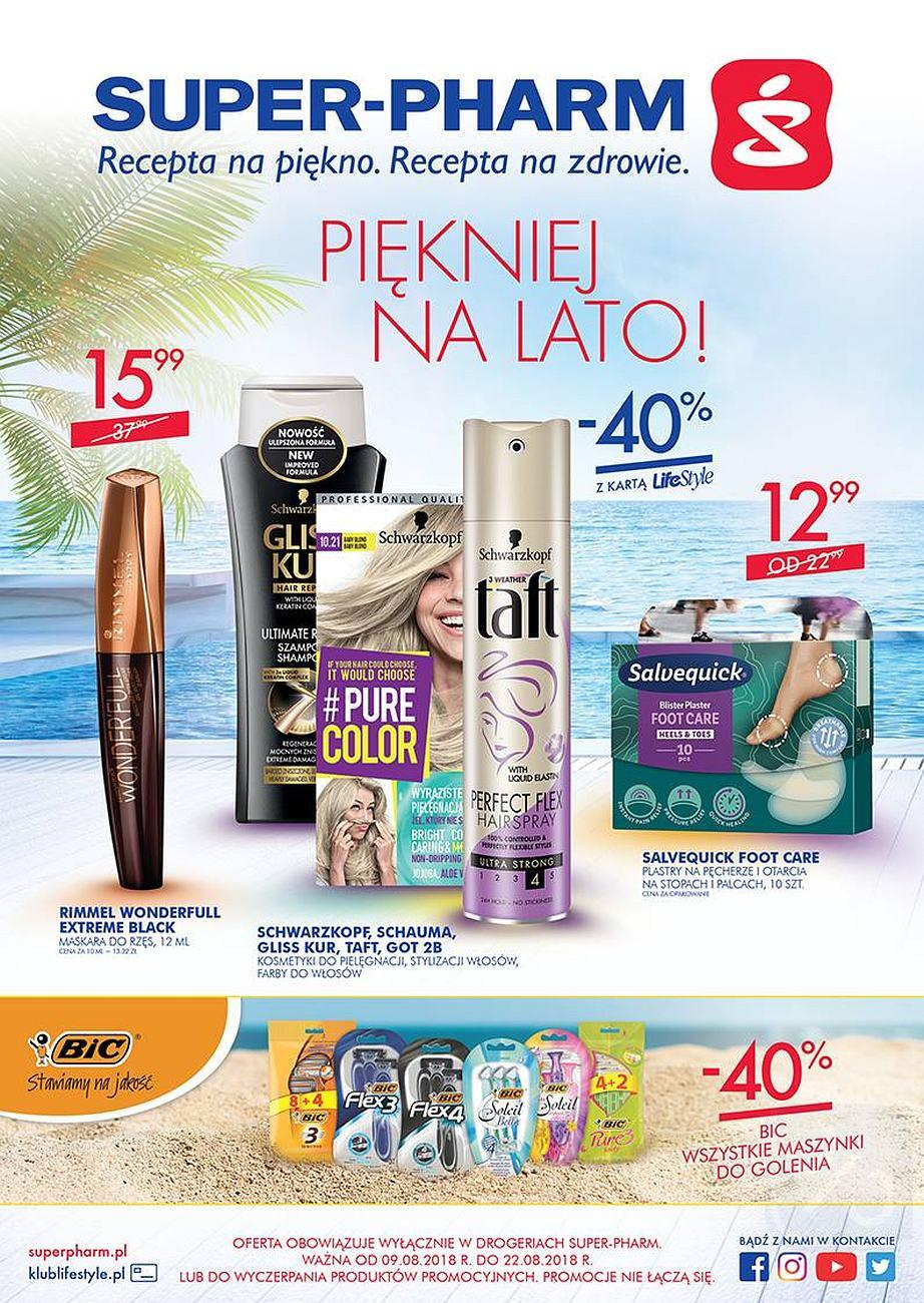 Gazetka promocyjna Superpharm do 22/08/2018 str.0