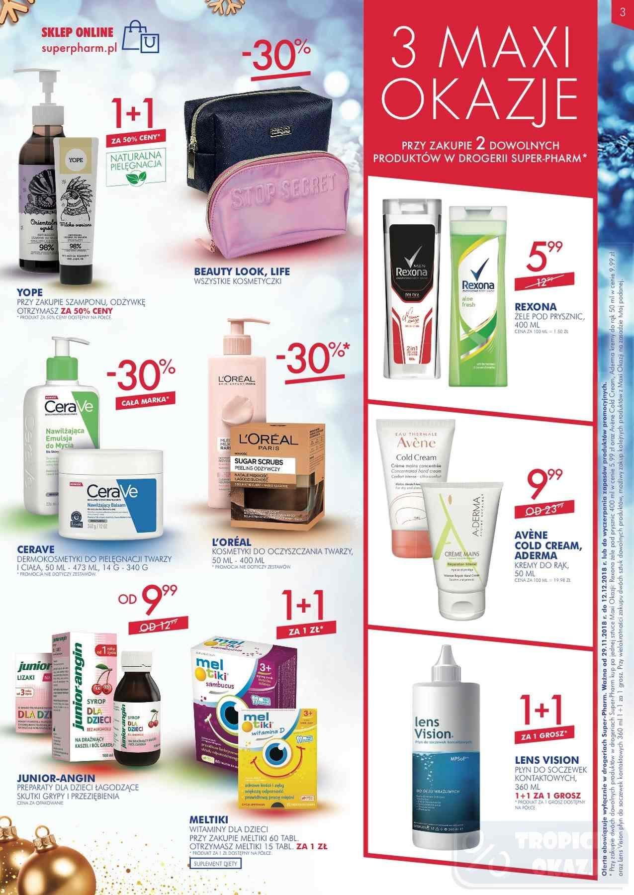 Gazetka promocyjna Superpharm do 12/12/2018 str.3
