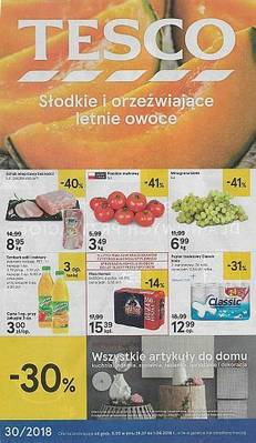 Tesco gazetka - od 26/07/2018 do 01/08/2018
