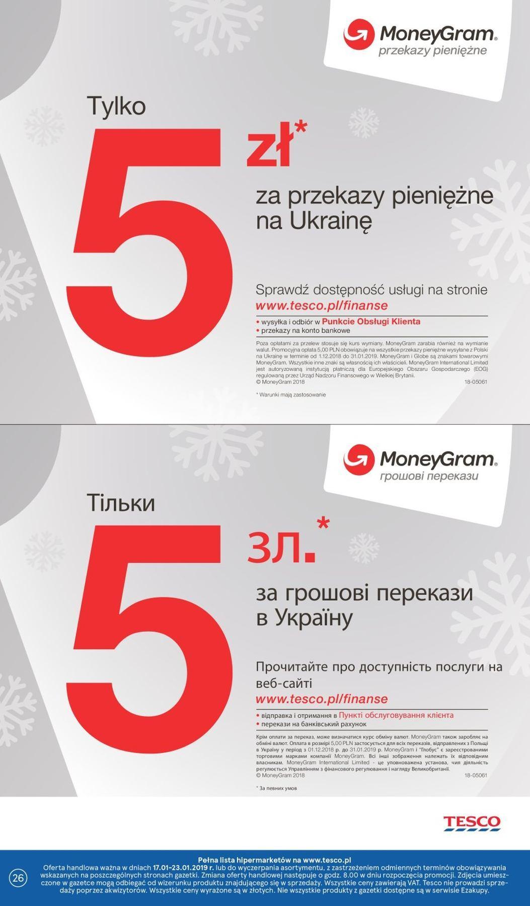 Gazetka promocyjna Tesco do 23/01/2019 str.26