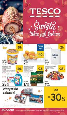 Tesco gazetka - od 12/12/2019 do 18/12/2019