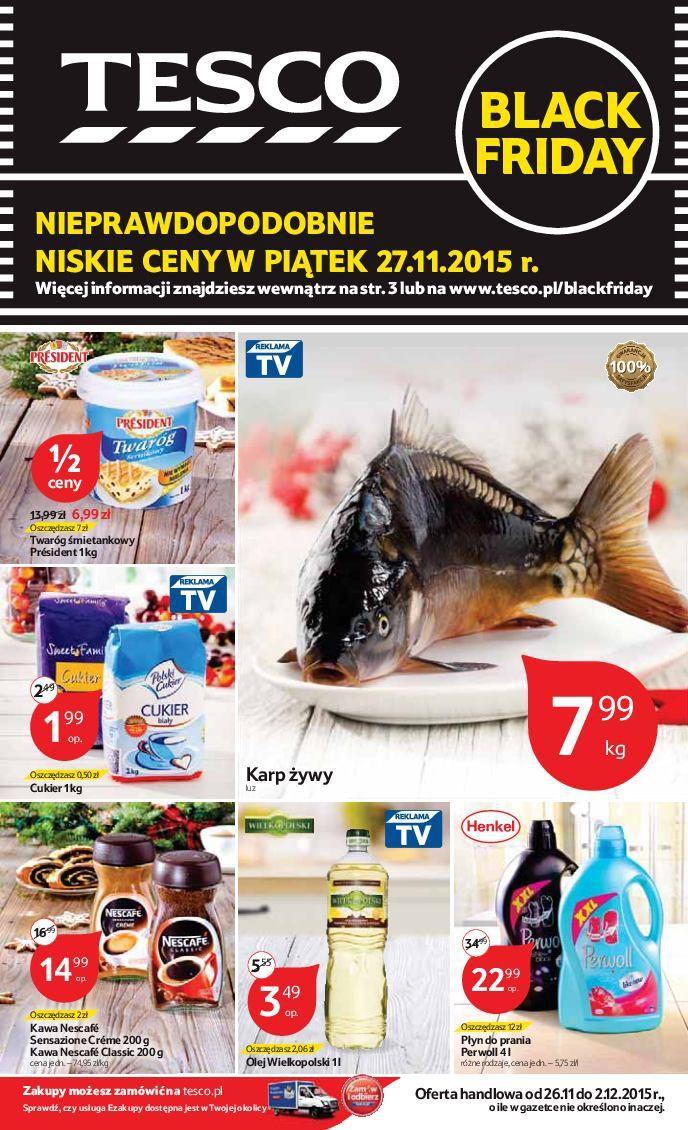 Gazetka promocyjna Tesco do 02/12/2015 str.0