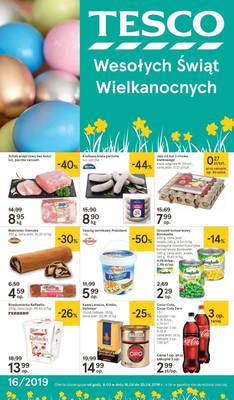 Tesco gazetka - od 16/04/2019 do 20/04/2019