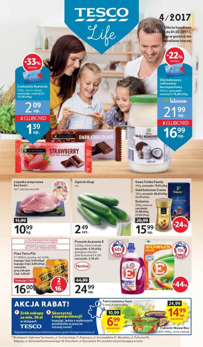 Gazetka promocyjna Tesco do 01/02/2017 str.0