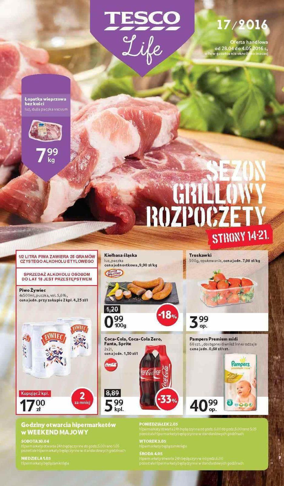 Gazetka promocyjna Tesco do 04/05/2016 str.0