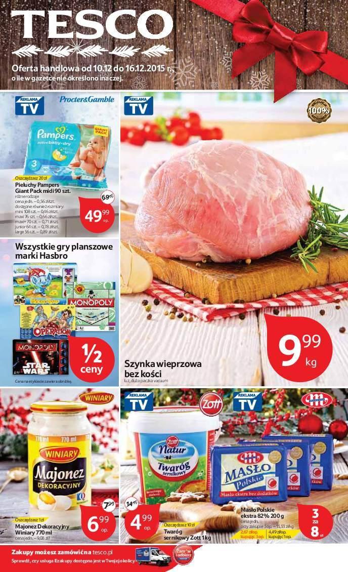 Gazetka promocyjna Tesco do 16/12/2015 str.0