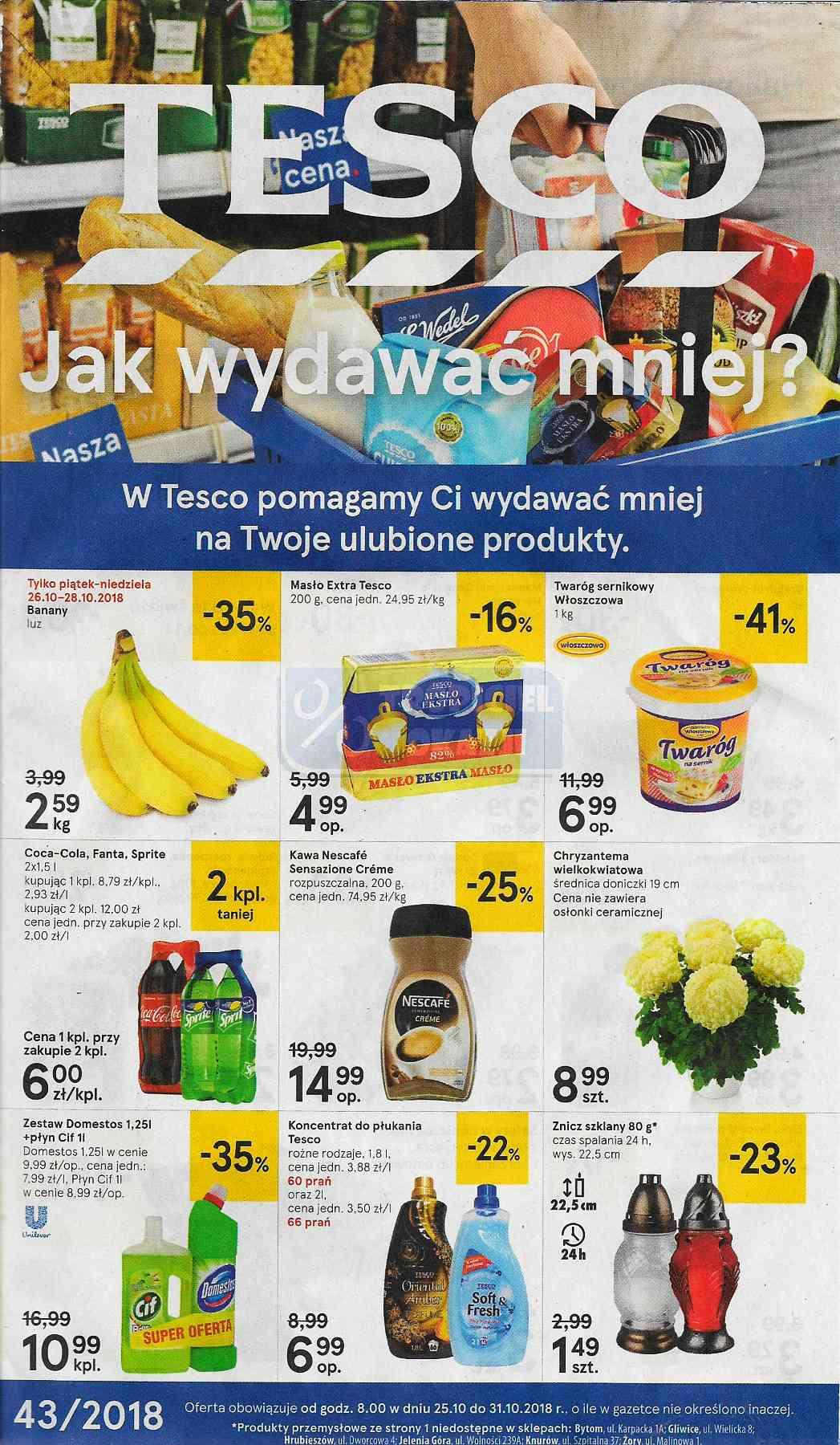 Gazetka promocyjna Tesco do 31/10/2018 str.0