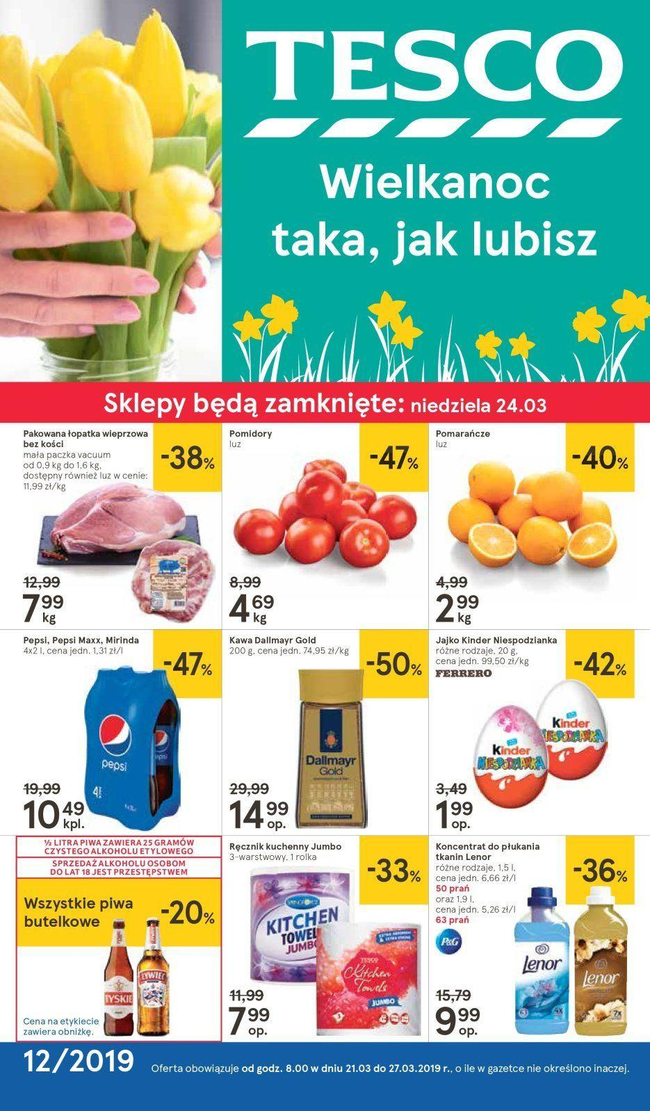 Gazetka promocyjna Tesco do 27/03/2019 str.1