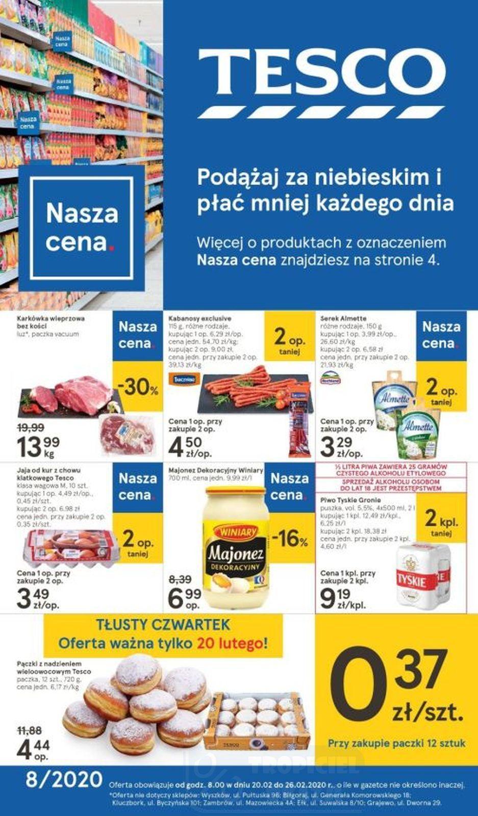 Gazetka promocyjna Tesco do 26/02/2020 str.1