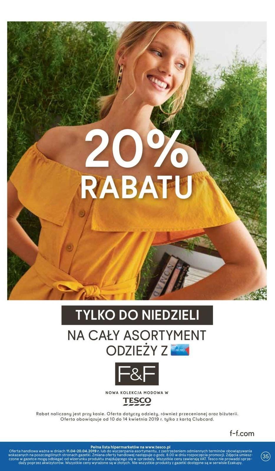 Gazetka promocyjna Tesco do 20/04/2019 str.34