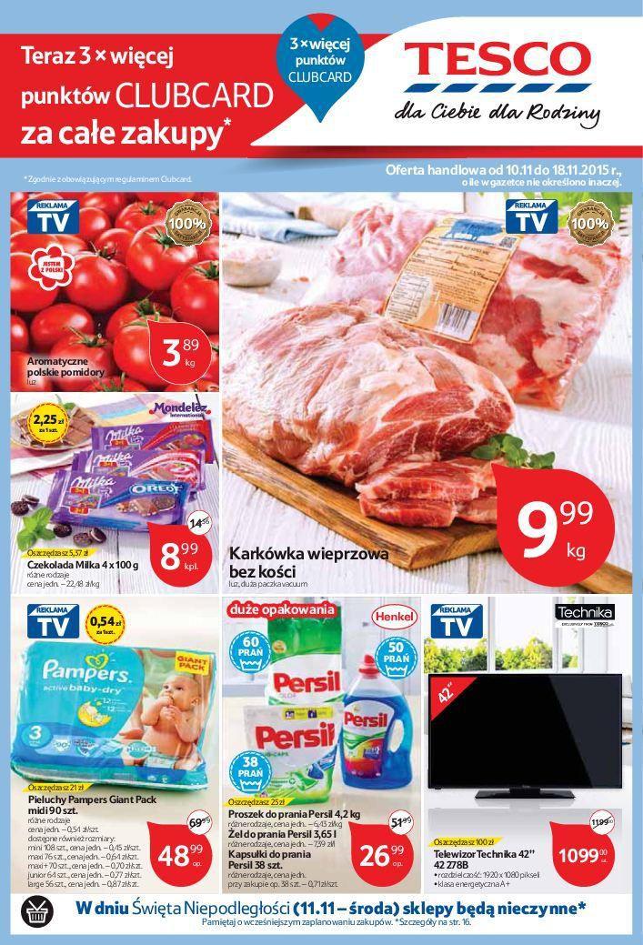Gazetka promocyjna Tesco do 18/11/2015 str.0