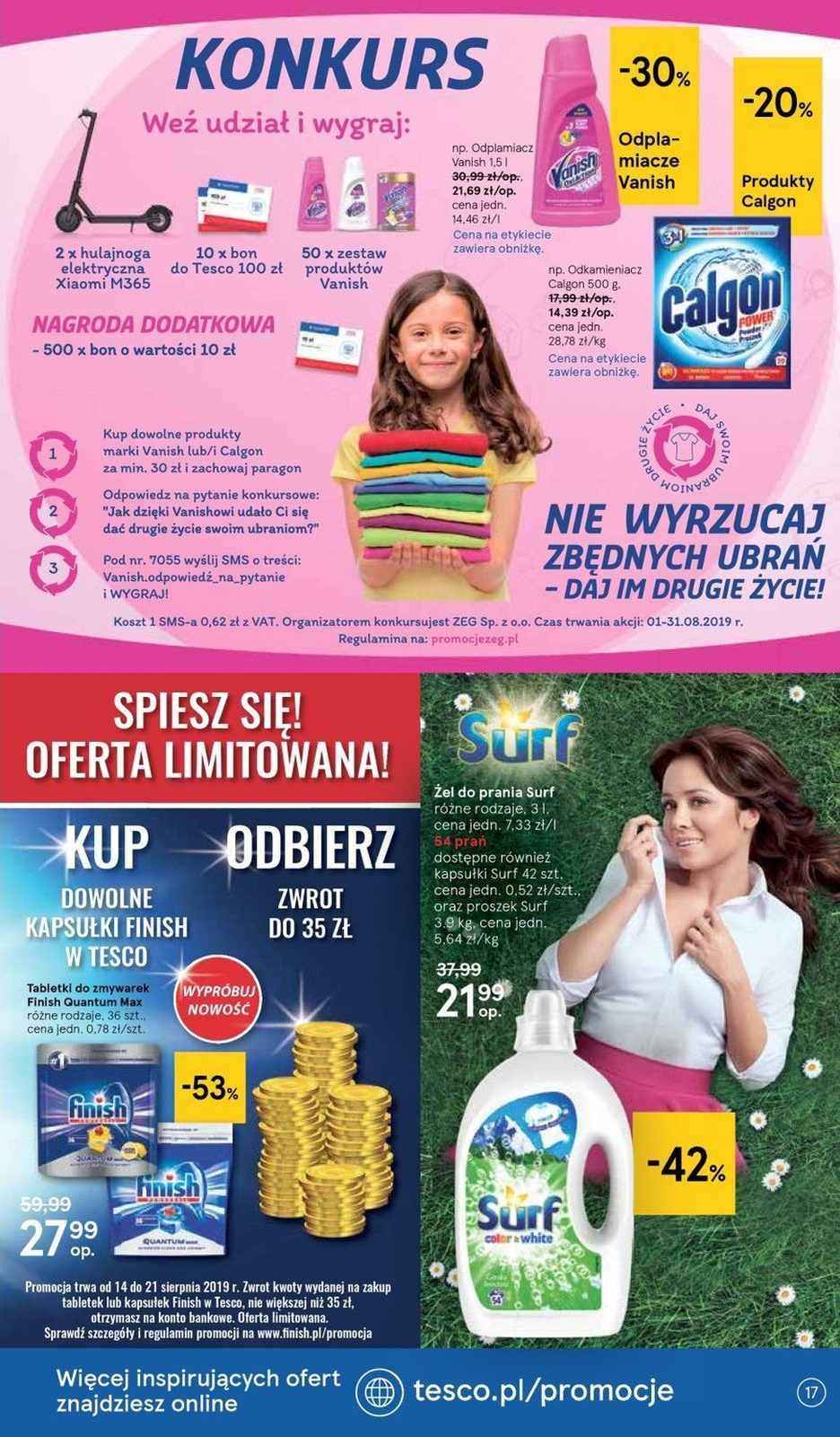 Gazetka promocyjna Tesco do 21/08/2019 str.16
