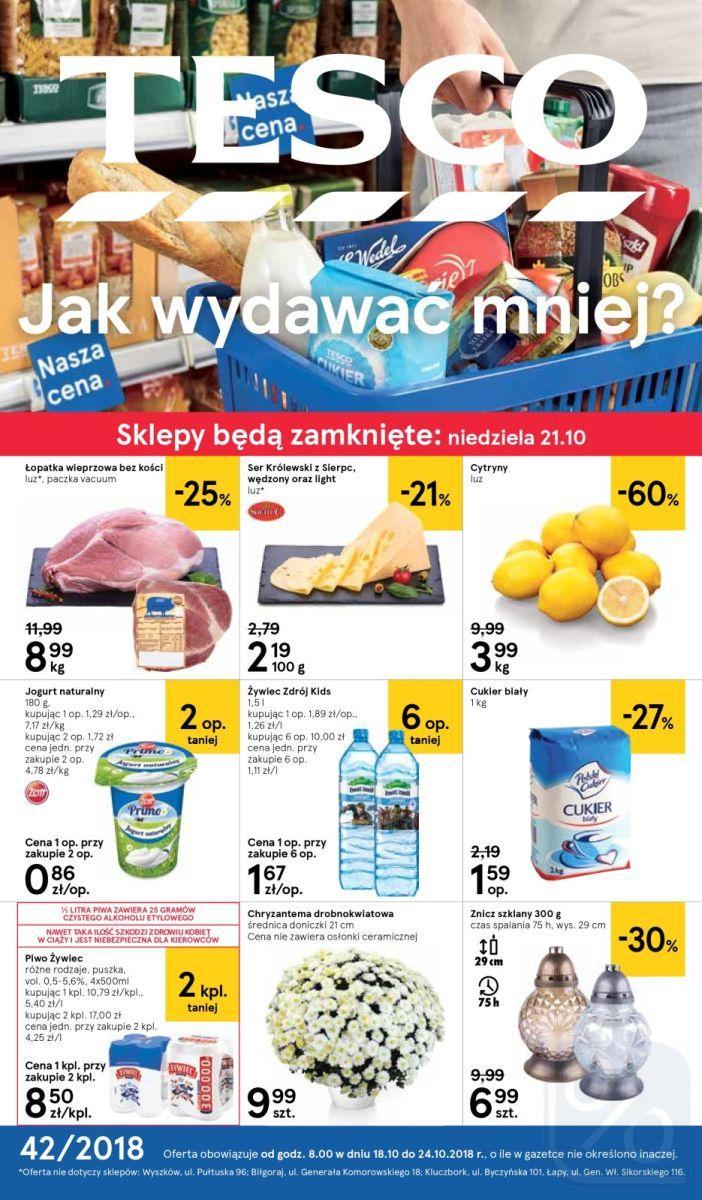 Gazetka promocyjna Tesco do 24/10/2018 str.0