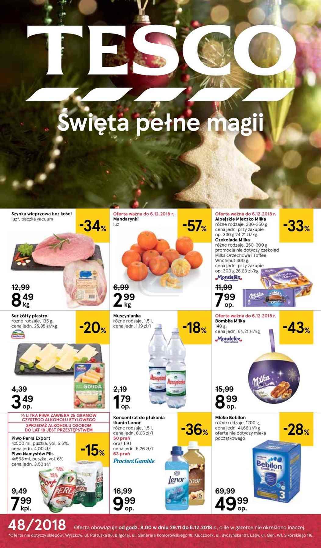 Gazetka promocyjna Tesco do 12/12/2018 str.1