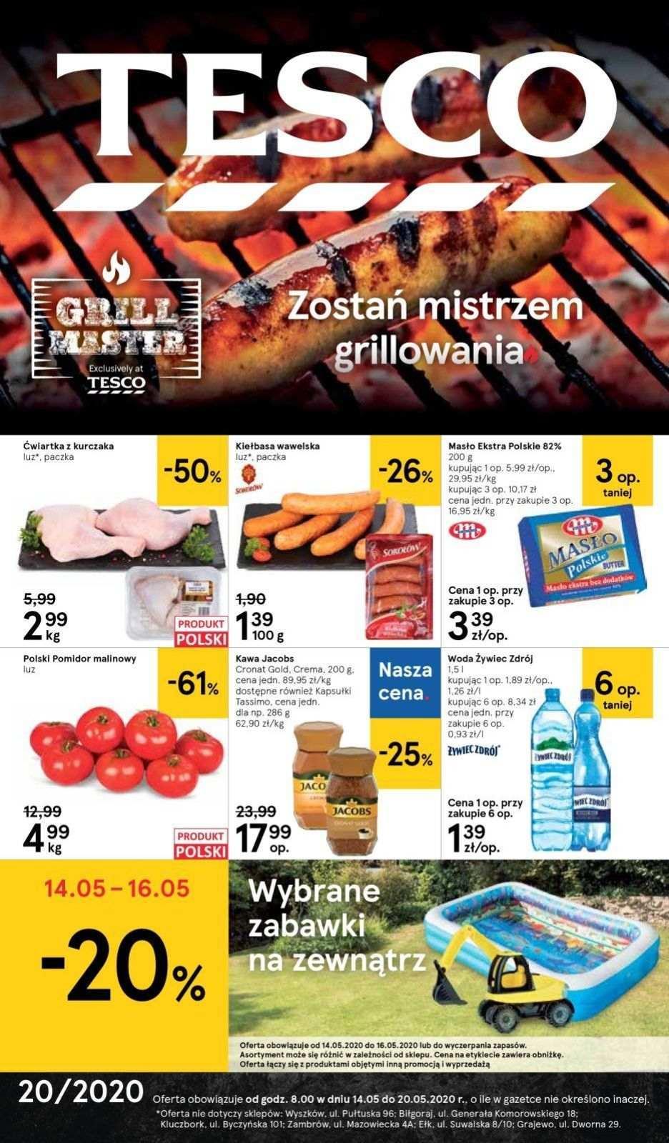 Gazetka promocyjna Tesco do 20/05/2020 str.0