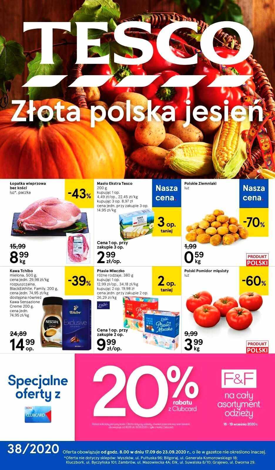 Gazetka promocyjna Tesco do 23/09/2020 str.1
