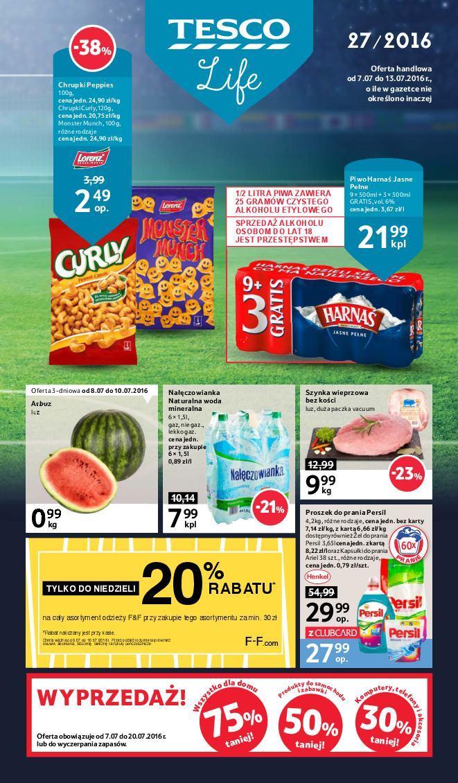Gazetka promocyjna Tesco do 13/07/2016 str.0
